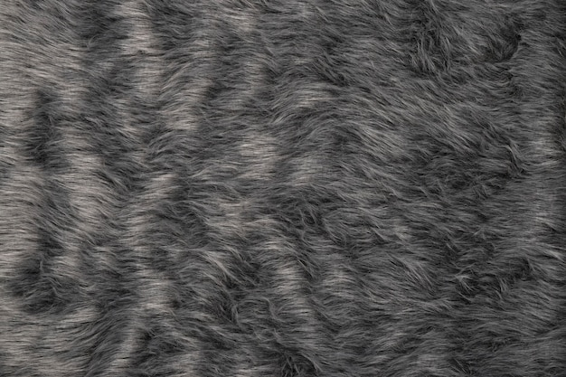 Closeup of gray fur texture