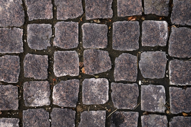 Closeup of grey tiled walkway texture for background