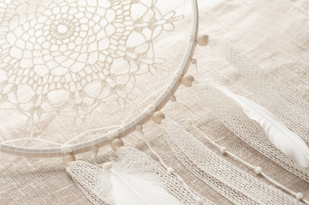 Closeup of handmade dream cathcer