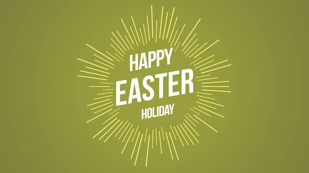 Closeup happy easter text on green background. luxury and elegant dynamic style template for holiday