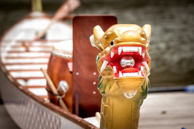ドラゴンボートのクローズアップヘッド