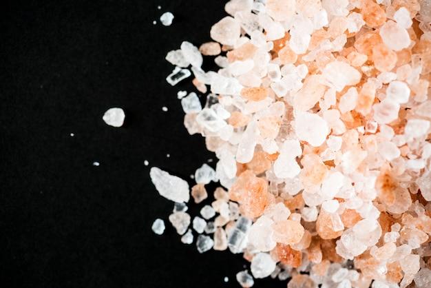 Primo piano di sale himalayano