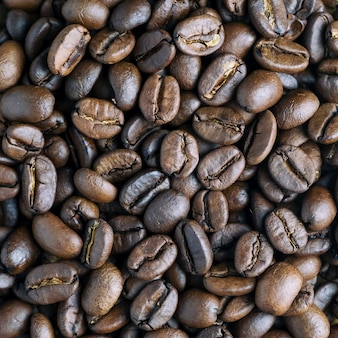 Closeup image of coffee beans