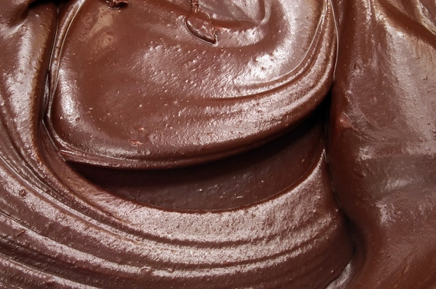 Closeup image of creamy chocolate