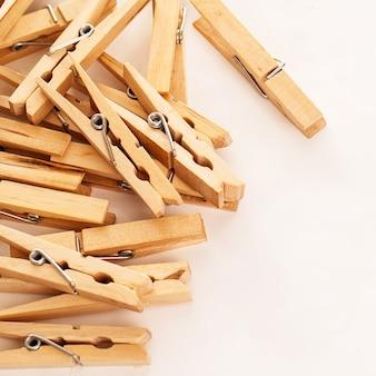 Closeup image of eco clothespins
