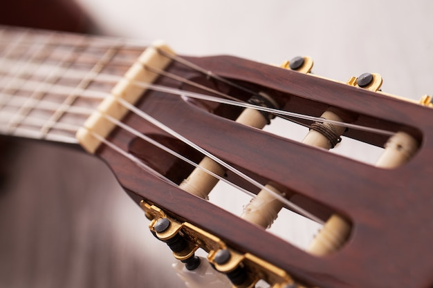Closeup image of guitar fingerboard