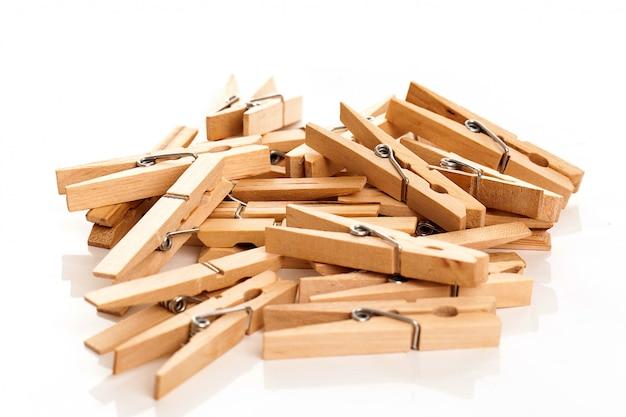 에코 clothespins의 근접 촬영 이미지