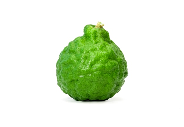 Closeup of isolated of one bergamot fruit