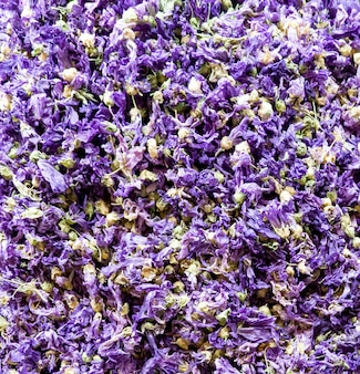 Closeup of the lavender tea on the market in istanbul, turkey
