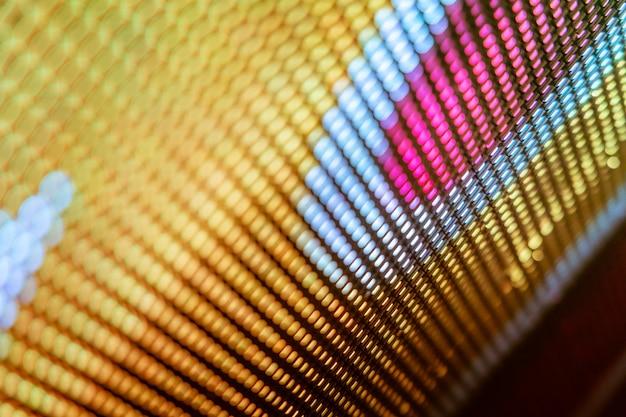 Closeup led 흐리게 화면. led 소프트 포커스 배경. 추상적 인 배경 디자인에 이상적입니다.