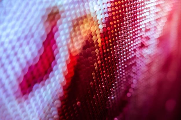 Крупный план led размытый экран. светодиодный фон с мягким фокусом. абстрактный фон идеально подходит для дизайна.