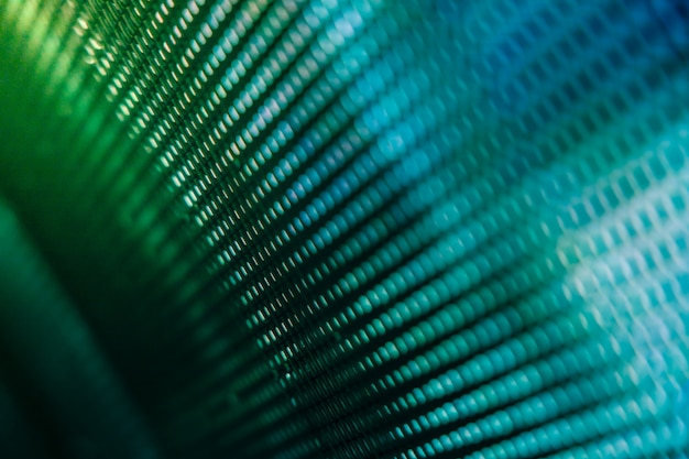 Closeup led blurred screen. led soft focus wall.