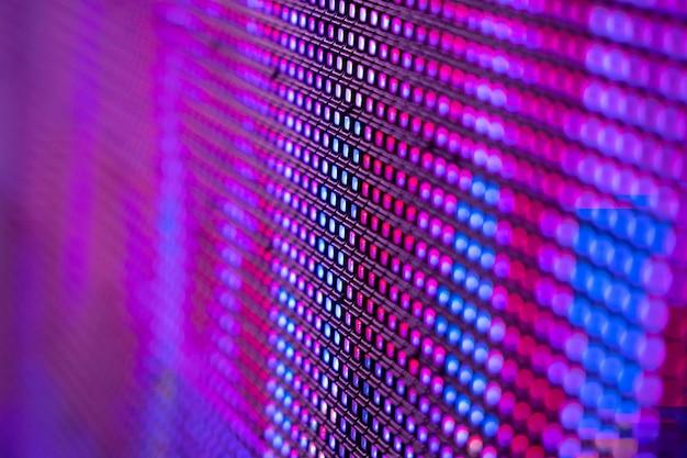 Closeup led размытый экран