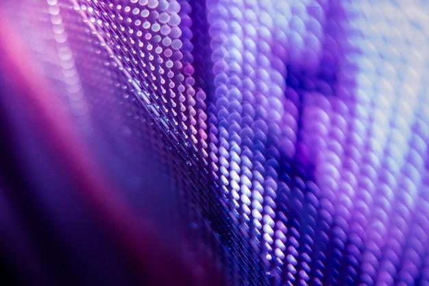 Closeup led размытый экран. светодиодная мягкая фокусировка фона. абстрактный фон