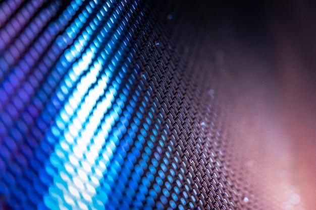 Closeup led размытый экран. светодиодная мягкая фокусировка фона.
