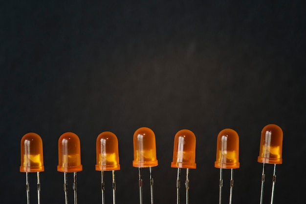 Closeup of light emitting diode