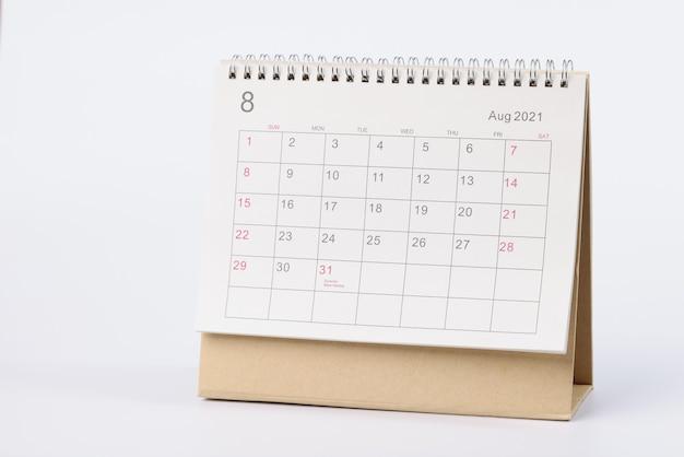 Closeup of loose leaf paper desk calendar
