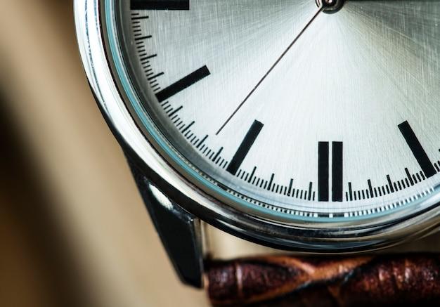 Closeup macro shot of a watch