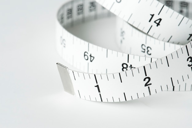Closeup of measuring tape