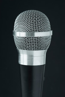 Closeup of microphone