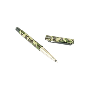 Closeup military pattern pen , beautiful pen isolated on white