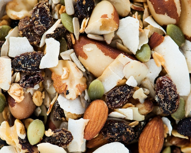 Closeup of mixed nuts