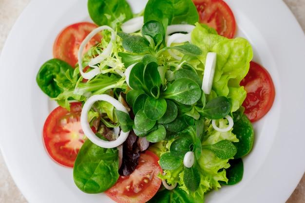 Closeup of mixed salad