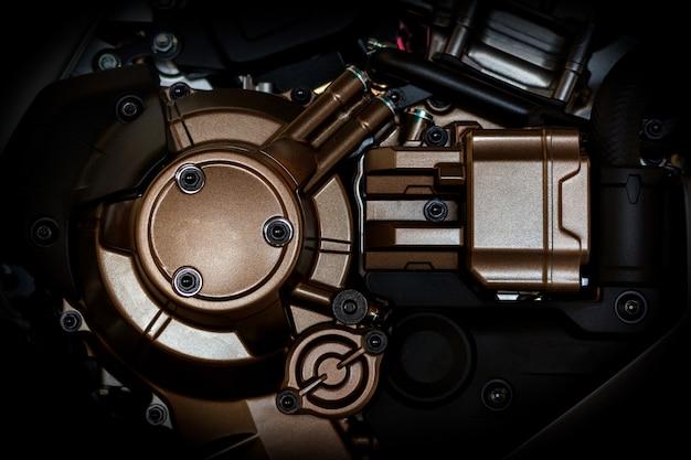 Closeup motorcycle engine