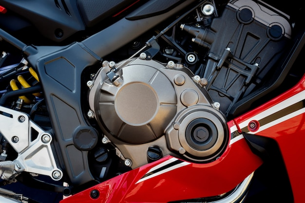 Closeup motorcycle engine