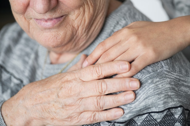 Макрофотография поддержки руки