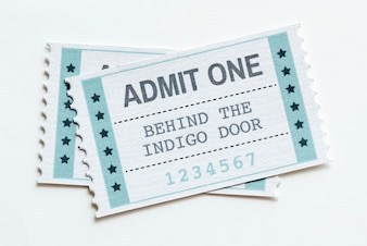 Closeup of an entertainment show ticket entertainment concept