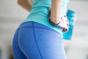 Closeup of Beautiful Sporty Woman Buttocks