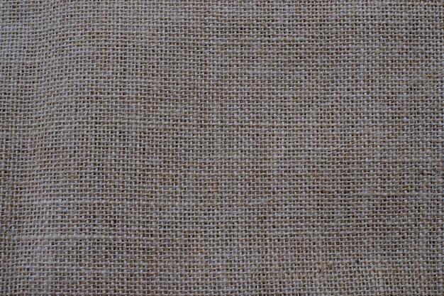 茶色の黄麻布のテクスチャのクローズアップは、背景として使用できます