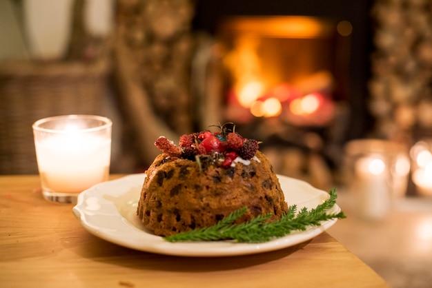 Макрофотография рождественский десерт