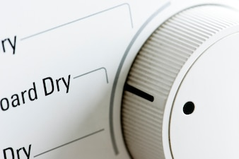 Closeup of clothes dryer