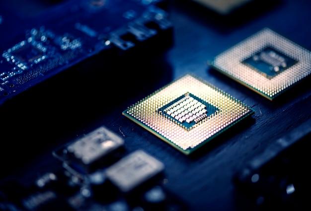 コンピュータプロセッサのクローズアップ