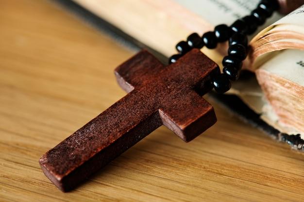 십자가의 근접 촬영