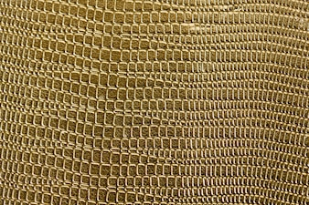 Closeup of golden scaly textured pattern background