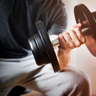 Макрофотография руки проведение штанги вес обучения