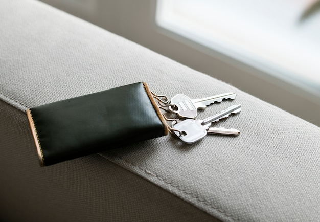 집 열쇠의 근접 촬영