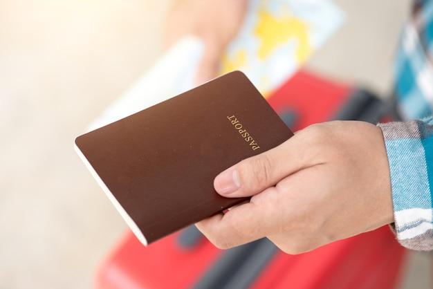 パスポート、搭乗、パス、空港