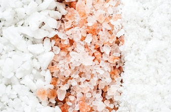 Closeup of mixed salt