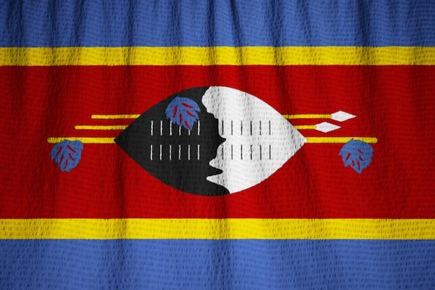 スワジランド旗、スワジランド旗が風に吹き込む