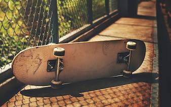 Closeup of sakteboard
