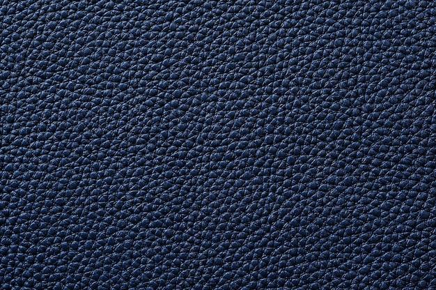 배경 원활한 블루 가죽 질감의 근접 촬영