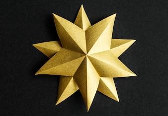 Closeup of star ornament