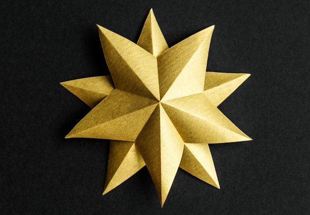 星の装飾のクローズアップ