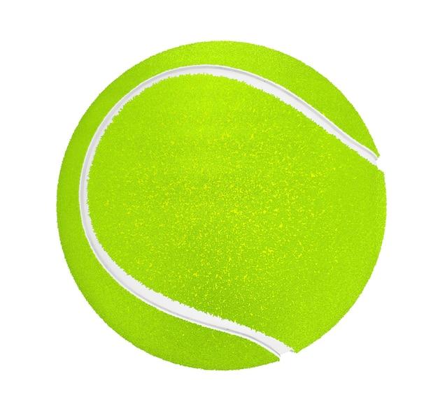 흰색 배경에 테니스 공의 근접 촬영