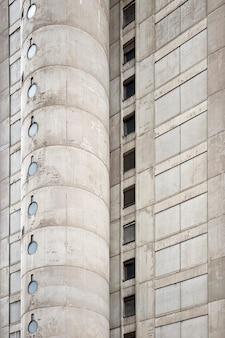 콘크리트 도시 건물의 근접 촬영
