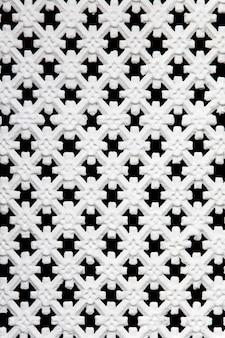 パターンと白いウィンドウのクローズアップ